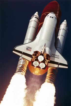 Lift-off of Space Shuttle Endeavour, 12th September 1992