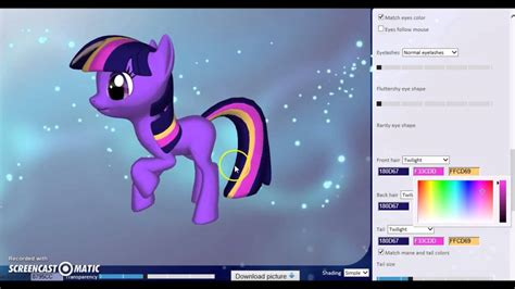Making Twilight Sparkle In 3D Pony Creator - YouTube