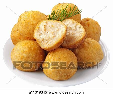 Kosher Gefilte Fish Balls Cut Out Stock Photography