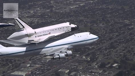 Space Shuttle Endeavour Flys Over L
