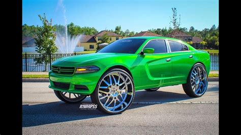 Slime Green Dodge Charger On 32s Forgiato - YouTube