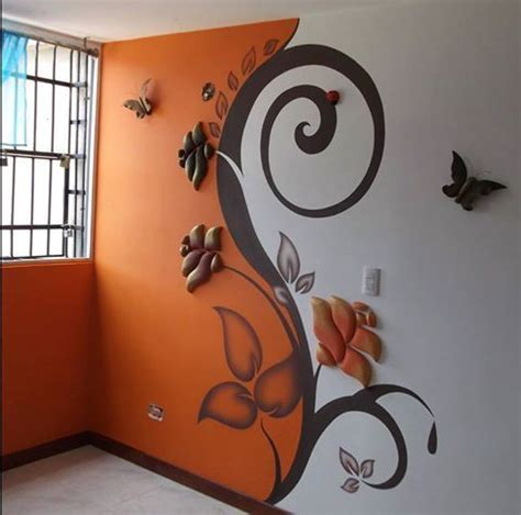 Wall paint and sculpture! Oh the ideas and color